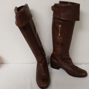 Pour La Victoire Brown Leather Knee High Boots 8.5